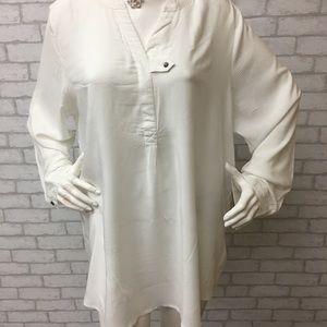 Woman Within white tunic -- Size 1X
